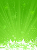 Green Christmas background. Royalty Free Stock Photography
