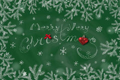 Green Christmas background. Illustration format. Holiday concept Stock Image