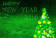 Green  christmas background with inscription 2016 Royalty Free Stock Photos