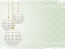 Green Christmas background landscape Royalty Free Stock Image