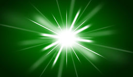 Green christmas background. With shining star Stock Photo