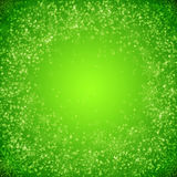 Green  christmas background with  snowflakes Stock Photos