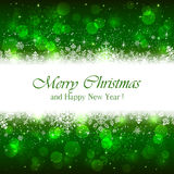 Green Christmas background with sparkle stars Royalty Free Stock Images