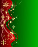 Green Christmas Background with Stars Royalty Free Stock Photos