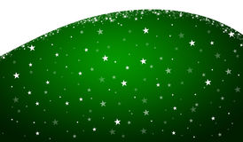 Green christmas background. With stars Royalty Free Stock Photos