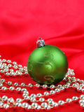 Green Christmas ball Stock Photography