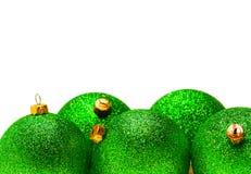 Green christmas ball. Isolated on white background christmas ball Stock Photos