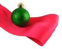 Green Christmas ball Stock Images