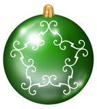 Green Christmas ball royalty free illustration