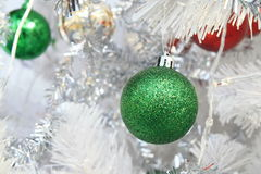 Green Christmas ball Stock Photos