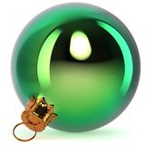 Green Christmas ball decoration New Year `s Eve bauble Royalty Free Stock Photography