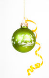 Green christmas ball Stock Image