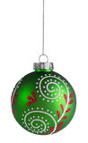 Green Christmas Ball Royalty Free Stock Photos
