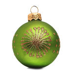 Green Christmas ball Royalty Free Stock Images