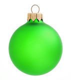 Green Christmas ball on white background.xmas decoration isolated Royalty Free Stock Photography