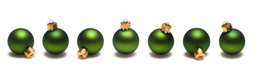 Green Christmas Balls Border royalty free stock photo