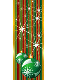 Green christmas banner Royalty Free Stock Images