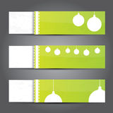 Green Christmas banner set Royalty Free Stock Photography