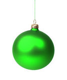 Green Christmas bauble Royalty Free Stock Photography