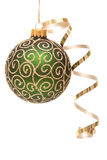 Green Christmas bauble Stock Photography