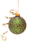 Green Christmas bauble Royalty Free Stock Image
