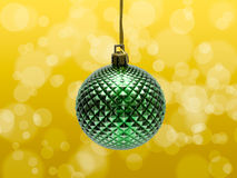 Green Christmas Bauble Stock Photo
