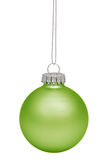 Green christmas bauble isolated on white. Background stock images