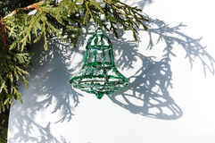 Green Christmas bell Stock Images
