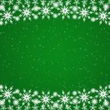 Green Christmas border Royalty Free Stock Photos