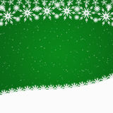 Green Christmas border with snowflakes Royalty Free Stock Photo