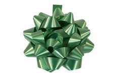 Green Christmas bow Stock Images