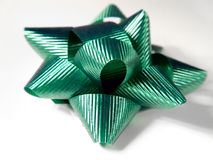 Green Christmas Bow Stock Photos