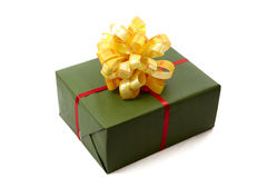 Green Christmas box Royalty Free Stock Image