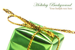 Green christmas box Stock Images