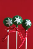 Green Christmas Cake Pops Royalty Free Stock Image
