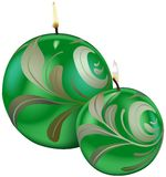 Green Christmas Candles. Colored Illustration, Vector Royalty Free Stock Images