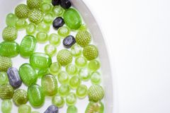 Green Christmas Candy. In a bowl Stock Photography