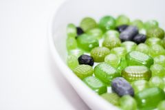 Green Christmas Candy Stock Photography