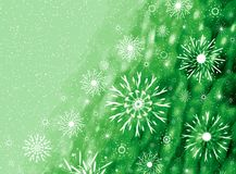Green Christmas card Royalty Free Stock Photo