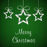 Green christmas card 2 Stock Photography