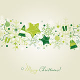 Green Christmas card royalty free illustration