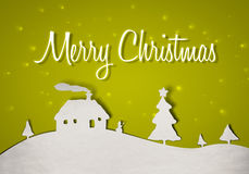 Green christmas card Royalty Free Stock Images