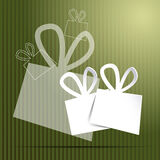 Green christmas card Royalty Free Stock Photography