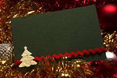 Green christmas card and decoration Stock Images