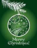 Green Christmas card Stock Photos