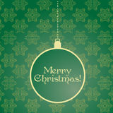 Green Christmas card Stock Image
