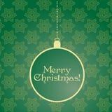 Green Christmas card Stock Image