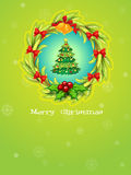 A green christmas card template Stock Photo