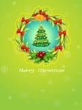 A green christmas card template Stock Photo