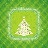 Green christmas card, vector royalty free illustration